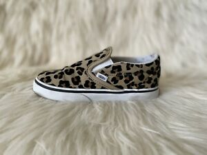 Vans Off The Wall Classic Slip On Toddler Girls Leopard Shoes Size 10