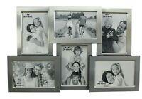 6 Picture Silver Collage Multi Aperture Photo Frame Xmas Gift Home Decor 4x6 6x4