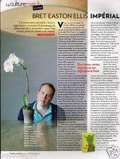 Coupure de Presse Clipping 2010 (1 page) Bret Easton Ellis