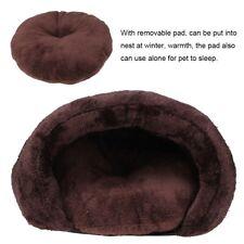 Pet Bed Dog Cat Soft Cushion with Fleece Lining Warm Pet Cave Sleeping Nest