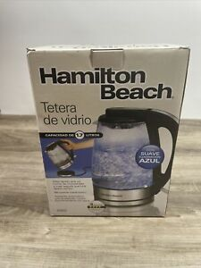 Hamilton Beach 1.7 Liter Electric Glass Kettle for Tea and Hot Water, Cordless