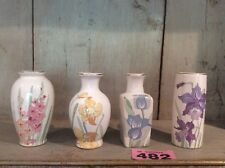 Set Of Four Small Pastel Coloured Vases VGC