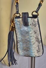 MIA BOSSI SMART PHONE MESSENGER BAG  PHONE CASE  purse SNAKESKIN
