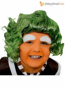 Childrens Oompa Loompa Wig Girls Boys Charlie Chocolate Fancy Dress Accessory