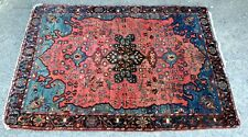 More details for 19th century victorian antique hand woven heriz tribal large fine carpet rug