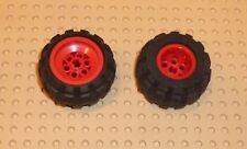 LEGO - WHEEL 43.2 x 28 Balloon Small, RED x 2 (6580c01) TW6