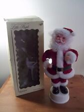 """VINTAGE RENNOC LITTLE PEOPLE CHRISTMAS 15"""" SANTA CLAUS + LIGHT UP CANDLE AS-IS"""