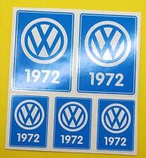 VW 1972 VOLKSWAGEN Year Date stickers INSIDE GLASS BEETLE BAY WINDOW CAMPER