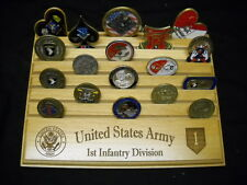 """Military Challenge Coin Holder 9x12,1st Infantry Division """"Big Red 1"""""""