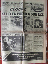 L'Equipe du 11/3/1985 Paris-Nice : pour Kelly - Foot Bordeaux - Tennis : Coupe D