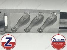 1108 Do-it Bank Sinker Mold - Production Style 3 Cavities of 4 Oz Sinkers