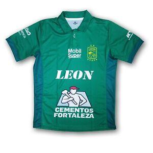Club Leon Men's Short Sleeve Jersey 2018 Design Green/White