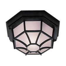 Traditional Black IP54 Exterior 8 Sided Octagonal Porch Ceiling Lantern Light
