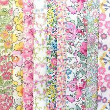 "NEW! *10 Liberty Print Tana Lawn pieces* - each min. 5"" x 5"" - SPRING BLOSSOM #2"