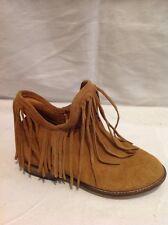 Girls Zara Brown Suede Boots Size 29