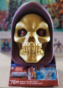 Masters Of The Universe Zodac Scubattack Skeletor Head Mega Construx New MOTU