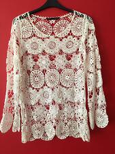 Zara Femme Guipure Crochet Plage Couvrir Taille M convient 10-12 RARE bloggers