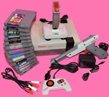 LOT Nintendo NES Console SET System + MANY GAMES Controls Bundle REFURBISHED!