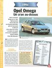 Opel Omega 1994 GERMANY DEUTSCHLAND ALLEMAGNE Car Auto FICHE FRANCE