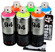Sprühdosen MTN fluoreszierende Neon Farben Fluorescent colors 6x400ml
