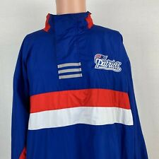 Adidas New England Patriots Embroidered Windbreaker Jacket Vtg 90s NFL Size XL