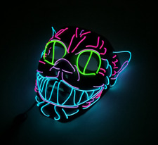 Maske Light EL Wire Cosplay Maske Halloween Party Mask Katze Cat Purge RAVE LED