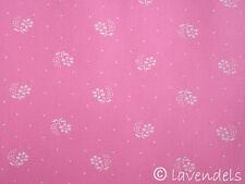 Dirndlstoff ♥ rosa Blümchen + Punkte Baumwolle Trachten Stoff Schürzenstoff
