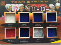 Team 8 In The Game Game Used Hockey Card. 2017 #4/30