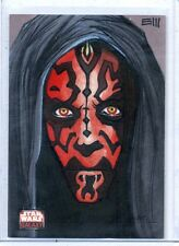 DARTH MAUL Topps STAR WARS GALAXY 4 SKETCH CARD **FULL COLOR SKETCH**