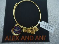 Alex and Ani STELLAR LOVE Shiny Gold Finish Charm Bangle New W/ Tag & Box