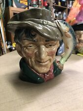 "Antique Large 7"" 1954 Royal Doulton Toby Jug - Head Vase ""The Poacher"" D 6429"