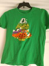 Disney Parks Mickey 2017 Halloween Green T Shirt Sz Xl youth Guc