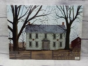 """Early American Home by Billy Jacobs, Canvas Picture, 12""""x16"""", Farmhouse Farm"""