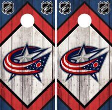 Columbus Blue Jackets Cornhole Wrap NHL Logo Game Skin Set Vinyl Decal CO231