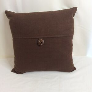 "MainStays Dynasty Decor Throw Pillow with Coconut Button Accent, 18""x18"", Brown"