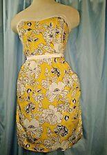 Teeze Me Strapless Floral Botanical Corset Stretch Sundress Dress Sz 9