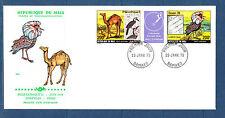 Mali  grande enveloppe  1er jour Philexafrique   oiseaux  tryptique   1979