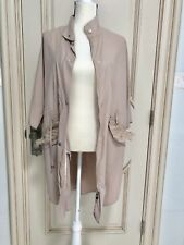 ZARA Basic Outerwear Beige Light Jacket Long Trench Overcoat Ruffle Spring Fall