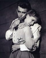 JULIE HARRIS SIGNED AUTOGRAPHED BW PHOTO WITH JAMES DEAN CLASSIC!