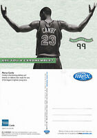 MARCUS CAMBY NBA AT AMERICAN EXPRESS UNUSED COLOUR POSTCARD