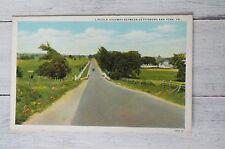 Vintage Postcard - Lincoln Highway Between Gettysburg and York PA