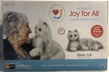 Joy For All Companion Pet Realistic Lifelike Soft Cuddly Silver Cat Hasbro Kitty