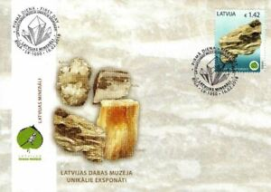Latvia 2018 (03) Museum of Natural History - Minerals - Gypsum (FDC)