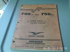 Moto Guzzi Operating Handbook 700CC 750CC