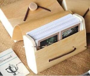 2PC  Wood Photo Album Box Case For Polaroid Mini 8 90 70 25 Film