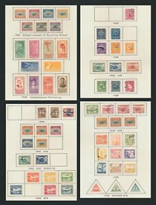 BOLIVIA STAMPS 1924-1938 4 PAGES INC AIRS 1924, 1930 SURCH & ZEPPELIN #C24/5