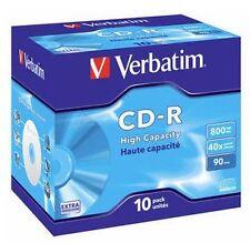 Verbatim Cd-r extra Protection Rohling 800mb 40x JEWEL Case 43428