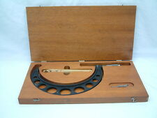 Brown & Sharpe 6''-7'' Outside Micrometer - Wooden Display Case - Standard
