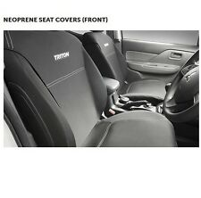 Genuine Mitsubishi MQ Triton Front Seat Covers - Black Neoprene