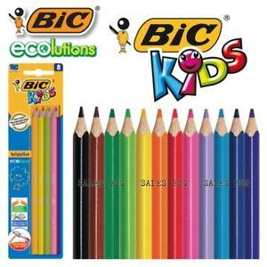 8 Bic Kids Colouring Pencils No Splinter Easy To Sharpen Extra Resistant